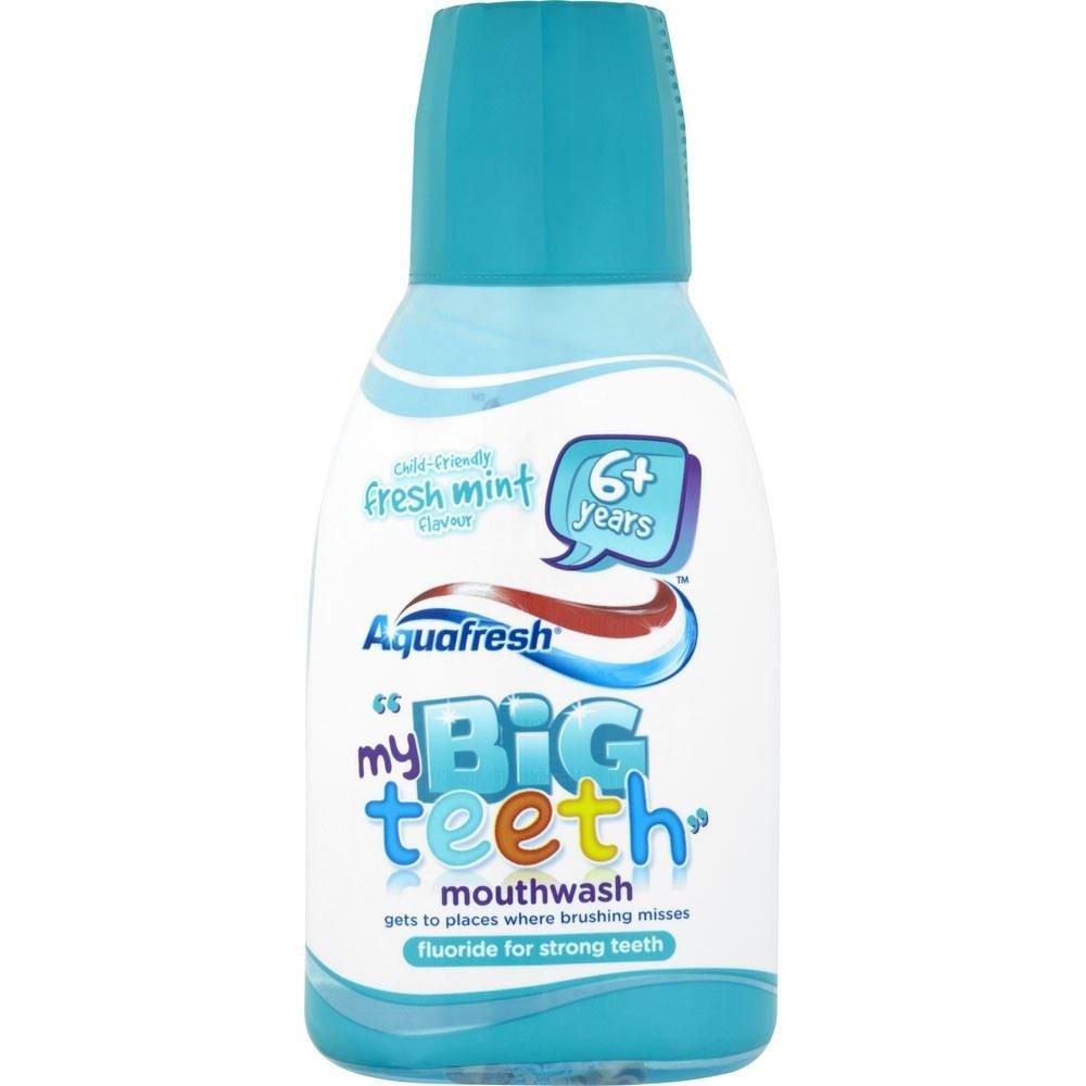 Aquafresh My Big Teeth Mouthwash Child-Friendly Fresh Mint Flavour 6 Years+ (300ml) Groceries