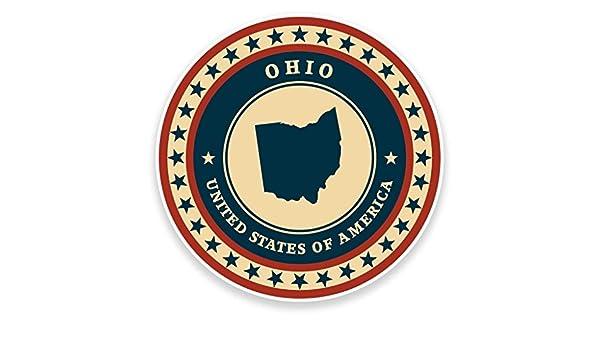 2 x Ohio USA Vinyl Sticker Car Travel Luggage #9435