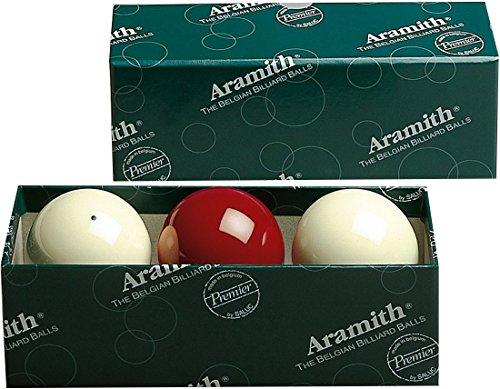 Aramith 61.5 mm Premier Carom/Carambole Billiard/Pool Balls, Complete 3 Ball Set