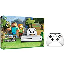 Xbox One S Console Bundle 2 items: Xbox One S 500GB Console-Minecraft Bundle, Extra Xbox Wireless Controller (White)