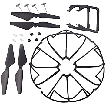 YouCute Spare Part Kit for Udi U45 Raven U45W Blue Jay U42 U42W U42WH CW4 Blue Jay Raven Drone Rc Quadcopter Black blade Protecting frame Lading Gear Blade Cover (New) (Black small kit)