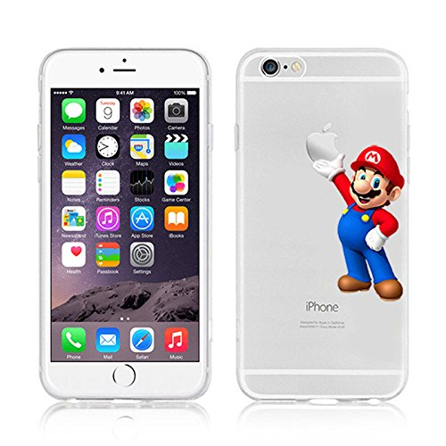 NEW DISNEY CARTOONS TRANSPARENT CLEAR TPU SOFT CASE FOR APPLE IPHONE 7 MARIO 3