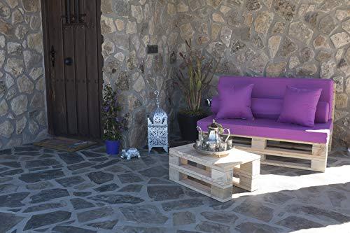 Palets Talavera SL 🏡Conjunto 1 Sofa Palet Europeo + 1 Mesa - Interior/Exterior Nuevo A ESTRENAR-Natural 🏡