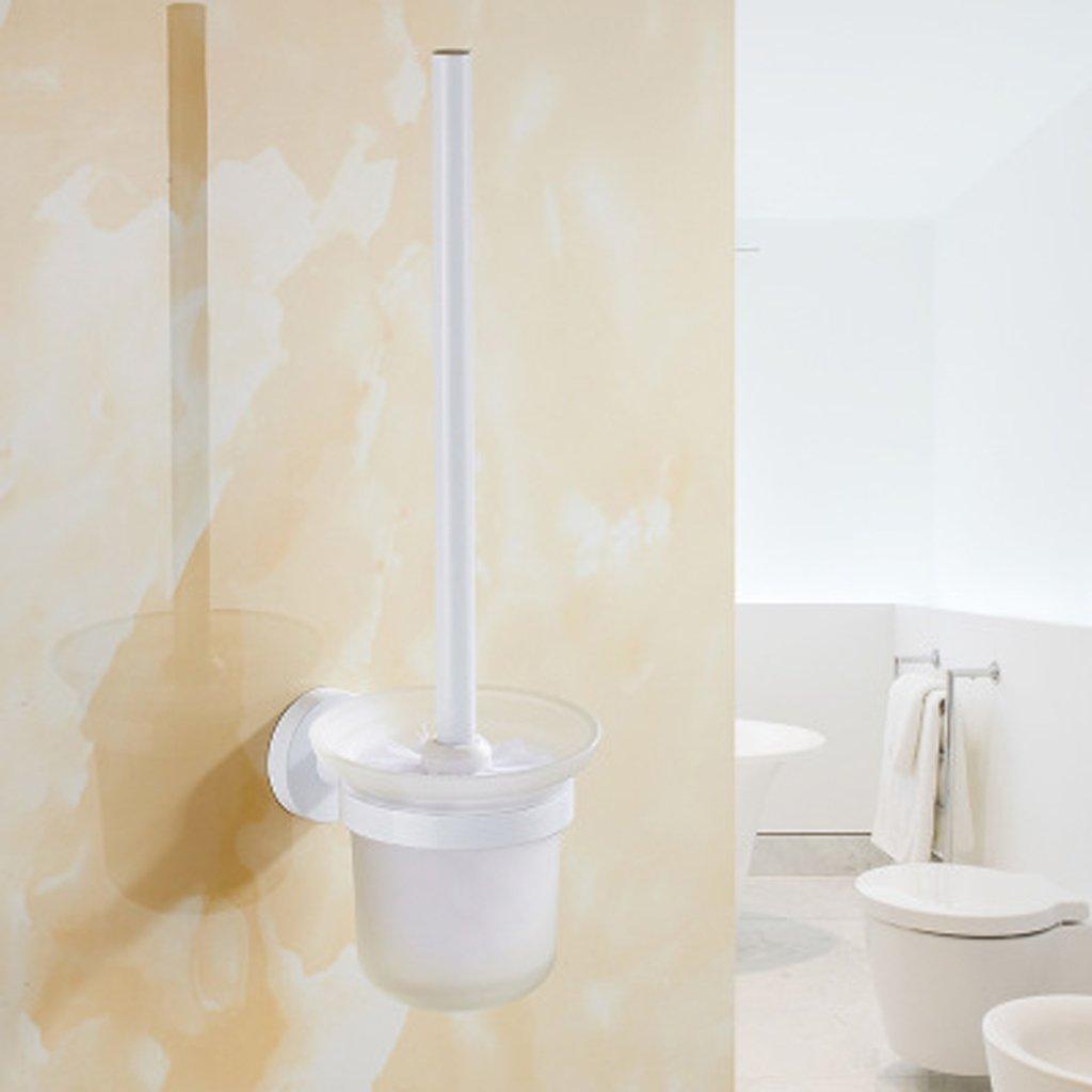 Toilet brush set Bathroom Hotel Creative Bathroom hardware accessories Space aluminum European white rack