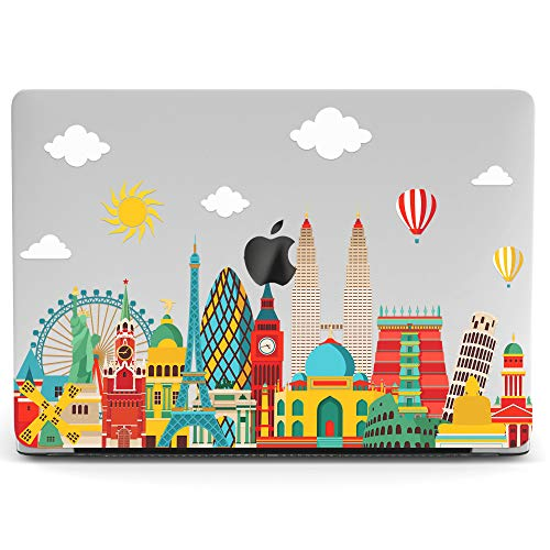 Wonder Wild Mac Retina Cover Case for MacBook Pro 15 inch 12 11 Clear Hard Air 13 Apple 2019 Protective Laptop 2018 2017 2016 2015 Plastic Print Touch Bar Beautiful Eiffel Pisa Statue of Liberty Girl -