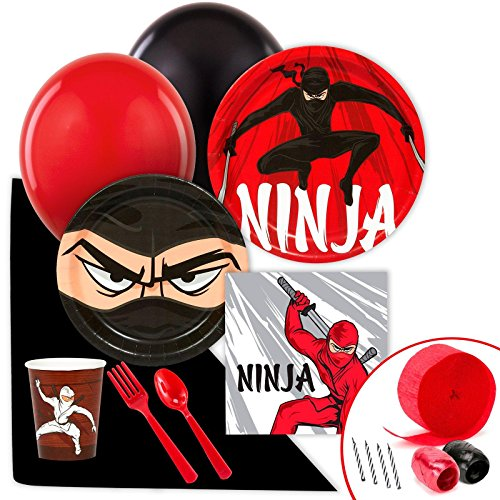 Ninja Warrior Party Supplies - Value Party Pack