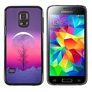 Paccase / SLIM PC / Aliminium Casa Carcasa Funda Case Cover para - Sky Winter Tree Purple Pink Peach - Samsung Galaxy S5 Mini, SM-G800, NOT S5 REGULAR!