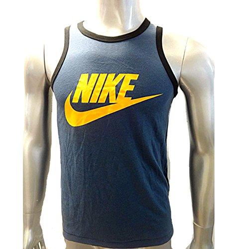 Nike Men's Ace Tank - Signal New Slate/Black/Atomic Mango 2XL