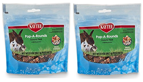 Kaytee Products Inc Treats - Kaytee Fiesta Pop-A-Rounds Treat for Small Animals (Rabbits, Guinea Pigs, Chinchillas, Hamsters, Gerbils, Mice and Rats) 2 Count