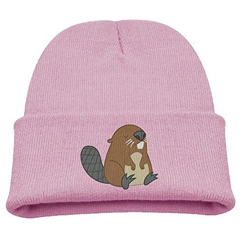 Kids Beanie Hat Hipster Beanie Winter Beaver Logo Skull Cap Stockings StockingHat (Cap Stocking Logo)