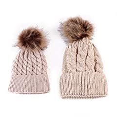 Description:  100% brand new and high quality A pack of 2: 1pc mother's hat + 1pc baby's hat Warm & stylish, design to increase the index of second glance for sure Material: knit Color: Black | White | Khaki | Red | Grey  Mother's Hat: He...