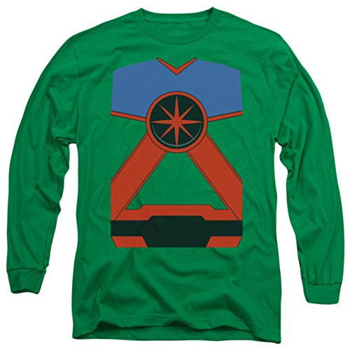 Long Sleeve: Justice League - Martian Manhunter Costume Tee Longsleeve Shirt Size S (Martian Manhunter Costume)