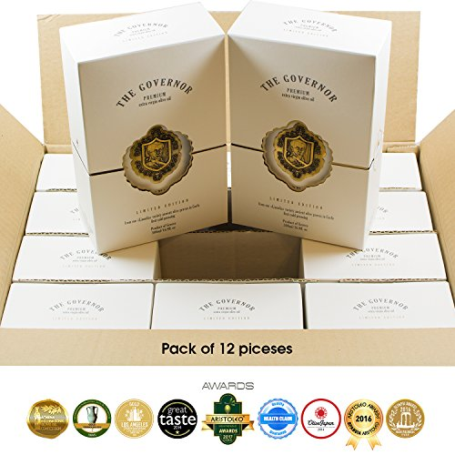 The Governor | Ultra Premium Unfiltered Extra Virgin Olive Oil | Olive Oil Polyphenols with Robust Health-Giving Properties | Limited Edition Cold-Pressed | Luxury Glass Bottle | 500ml (Pack of 12) by The Governor (Image #9)