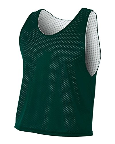 A4 Sportswear Forrest Green/White Youth Large Lacrosse Reversible Practice Jersey Pinnies