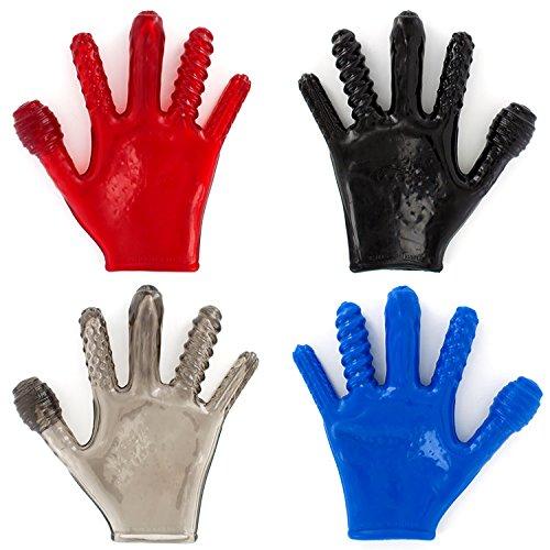 Oxballs Finger Fuck Textured Textured Fuck Glove Smoke c4b0e1