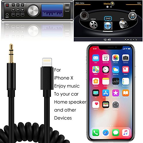 iphone x aux cable zhihum lightning to headphone. Black Bedroom Furniture Sets. Home Design Ideas