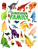 Dinosaurs Toys - Educational Set Of 24 Large & Mini Plastic Realistic Figures & Playset - T-rex Spinosaurus Triceratops &more - Fun Game Kids Boys & Girls Age 3 + Years Old For Party Birthday Supplies