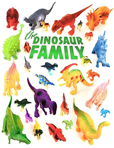 24 Colorful Dinosaur Toys - Educational Set Of 12 Large 7 & 12 Mini 1 Plastic Realistic Figure & Playset - T-rex Spinosaurus Triceratops & More - Fun Game Kids Boys & Girls Age 3 + Years Old Gift