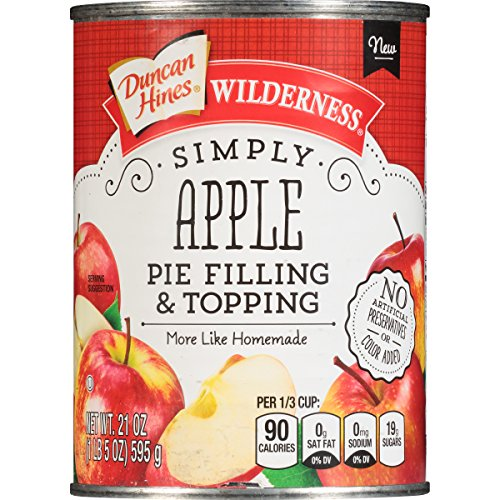 Wilderness Simply Pie Filling & Topping, Apple, 21 Ounce (Pack of -