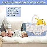Baby Diaper Caddy Organizer - ABenkle Stylish Rope