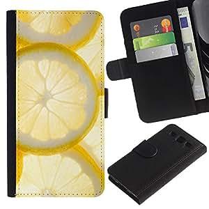 WINCASE (No Para S3 Mini) Cuadro Funda Voltear Cuero Ranura Tarjetas TPU Carcasas Protectora Cover Case Para Samsung Galaxy S3 III I9300 - sol amarillo cóctel de frutas soleado