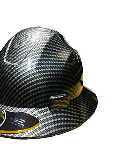 HDPE Hydro Dipped Black Full Brim Hardhat Carbon Fiber with Fast-Trac Suspension by IM Products (Image #3)