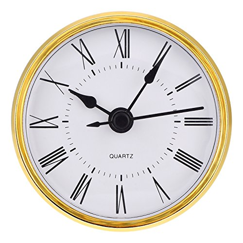 Face Roman Insert (Hicarer 2.8 Inch (70 mm) Roman Numeral Quartz Clock Insert with Gold Trim)