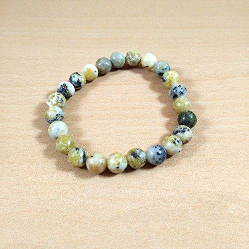 healings4you Serpentine Beads Bracelet Natural Gemstone Stone Beads Size - 8mm Chakra Balancing Crystal