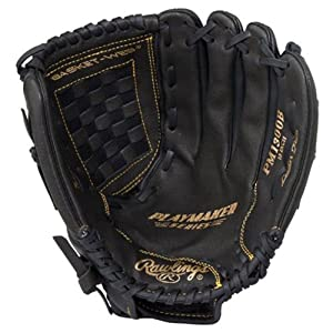 Rawlings Playmaker Series Glove, Black, 13″, Worn on Left Hand