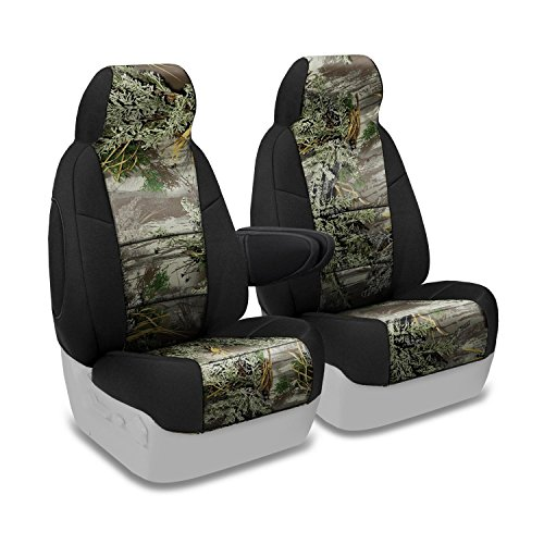 Coverking Front 50/50 Bucket Custom Fit Seat Cover for Select Ford Bronco Models - Neosupreme Camo Real Tree (Max-1 with Black Sides) (91 Ford Bronco Camo Bucket Seats compare prices)