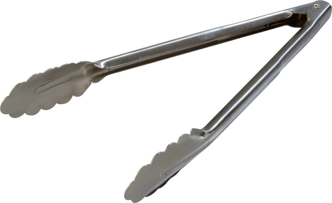Carlisle 607552 18-8 Stainless Steel Heavy-Duty Utility Tongs, 12' (Case of 12) 12 (Case of 12) Carlisle FoodService Products