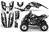 2001-2005- Yamaha Raptor 660 AMRRACING ATV Graphics Decal Kit-MadHatter-White-Black