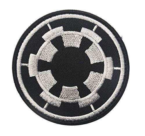 Antrix Galactic Empire Empire Target Tactical Applique Fastener Hook and Loop Military Star War Galactic Empire Badge Morale Patch -Dia.3.15