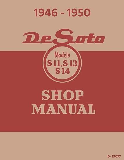 amazon com: bishko automotive literature 1946 1947 1948 1949 1950 desoto  shop service repair manual book engine wiring: automotive