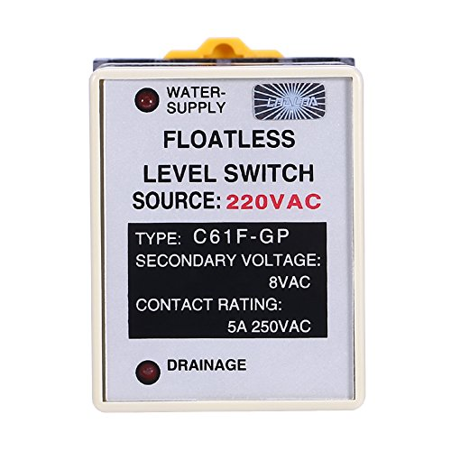 Akozon C61F-GP AC220V 50/60HZ Liquid Floatless Level Switch Controller with Base by Akozon (Image #1)