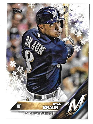 2016 Topps Walmart Holiday Snowflake - MILWAUKEE BREWERS Team Set