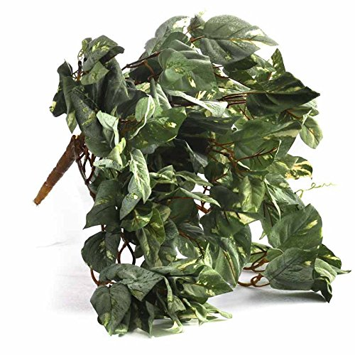 Factory Direct Craft Group of 3 Cascading Artificial Flocked Pothos Ivy Vine Bush for Home Decor, and ()