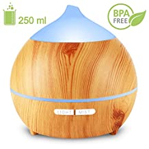 Holan Essential Oil Diffuser for Bedroom, Nursery , Desk,Home, Office, Yoga Room,or Studio