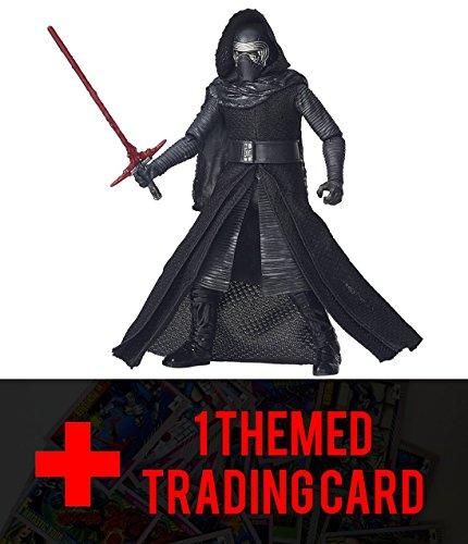 [Star Wars The Black Series 6-Inch Kylo Ren with one FREE Official Star Wars Trading Card Bundle] (First Order Stormtrooper Costume For Sale)
