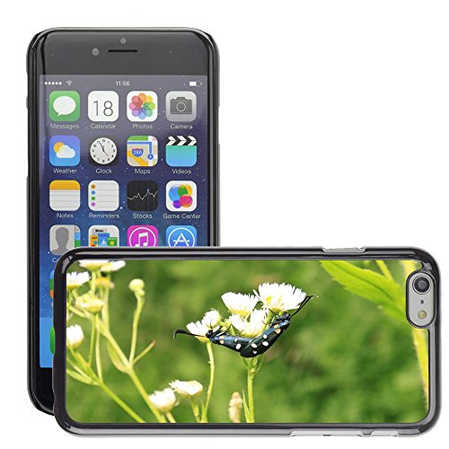 "Bild Hart Handy Schwarz Schutz Case Cover Schale Etui // M00133512 Black Butterfly Dots Kopulation // Apple iPhone 6 PLUS 5.5"""