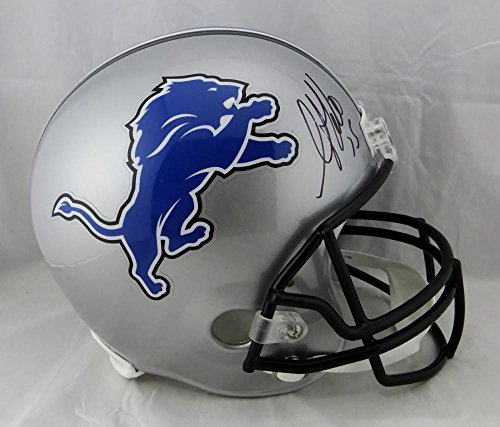 Golden Tate Autographed Detroit Lions Full Size Helmet - Beckett Auth Black