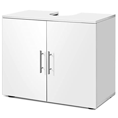 Amazing Giantex Bathroom Vanity Cabinet Under Sink Storage 27 Wide 14 Deep 23 Height Non Pedestal Large Cabinets Capacity Space Saver Organizer Home Interior And Landscaping Palasignezvosmurscom