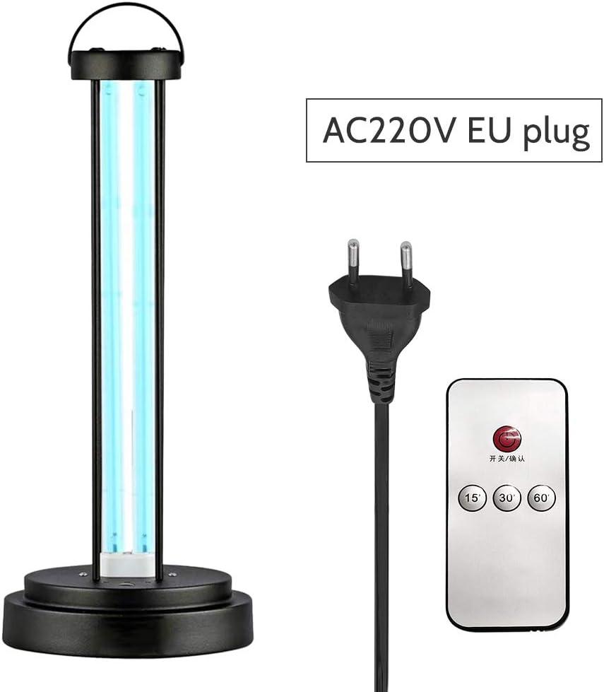 Lixada Lámpara de Esterilizador UV de Pie con Función de Temporizador de Control Remoto de Ozono Luz Cantimplora Hospital Jardín de Infantes