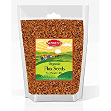 SUNBEST Organic Whole Golden Flax Seeds in Resealable Bag -Non Gmo,Vegan &Kosher- 32 Ounce (2 Lb)
