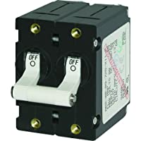 BLUE SEA SYSTEMS 7242 / Blue Sea 7242 A-Series Double Pole Toggle - 50A - White