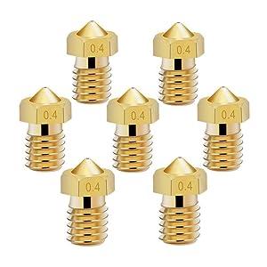 14 Pcs M6 3D Printer Nozzle 0.4mm Extruder Brass Nozzle Print Head