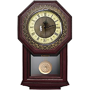 Amazon Com Hoseki Wall Clock With Swinging Pendulum
