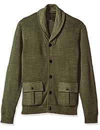 Lucky Brand Mens Standard Military Shawl Collar Cardigan Sweater