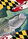 Citizen Pride Maryland Rockfish Large House Flag by Joe Barsin, 28×40