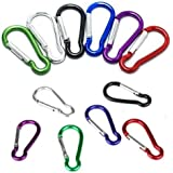 AGPtek Spring-loaded Gate Bottle Gourd Shaped Aluminum Locking Carabiner for Home, RV, Camping, Fishing, Hiking, Traveling and Keychain, 2-Inch, Assorted Colors (Set of 36)